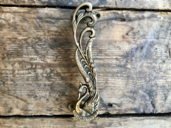 Peacock Door Handle with Bronze Finish